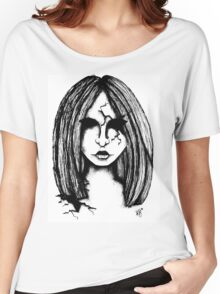 Cracked Porcelain Doll Women's Relaxed Fit T-Shirt