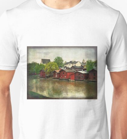 Red Buildings Along the River Unisex T-Shirt