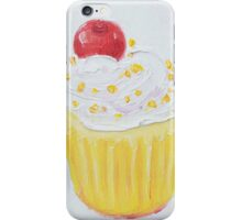 Vanilla cupcake with frosting and sprinkles iPhone Case/Skin