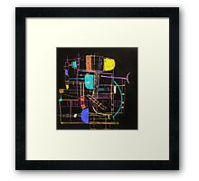 Playing in Asnieres 2d Framed Print