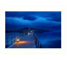 The sound of silence at Prespes lakes Art Print