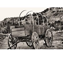 Old Covered Wagon Photographic Print