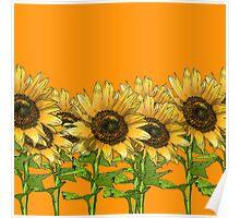 Sunflower Orange Poster