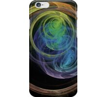 Abstract Art Space Circles iPhone Case/Skin