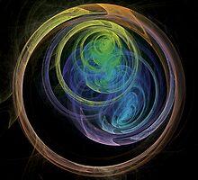 Abstract Art Space Circles by Vac1