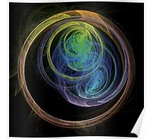 Abstract Art Space Circles Poster