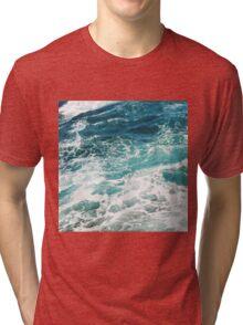 Blue Ocean Waves  Tri-blend T-Shirt