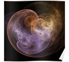 Abstract Art Space Flowers Poster