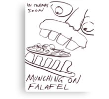 MUNCHING ON FALAFEL Metal Print