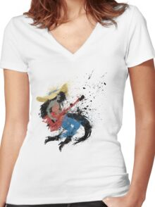 Sweet Licks Women's Fitted V-Neck T-Shirt