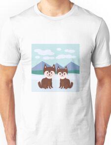 Funny husky dogs Unisex T-Shirt