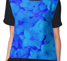 Blue Hydrangeas Chiffon Top