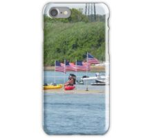 Patriotism - Flags on Sand Dune amid Manasquan River iPhone Case/Skin