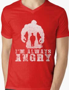 I'm Always Angry T-shirt - Cool Angry Crazy New Level Shirt Mens V-Neck T-Shirt