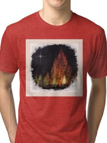 Frosted Window Pane ~ Snowy Night Tri-blend T-Shirt