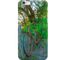 Old Rustic Ladies Bicycle... iPhone Case/Skin