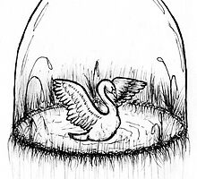 Swan Globe by ThingsByLucy