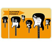 Guitar's forest Photographic Print