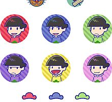 Osomatsu san: Sticker Sheet by Danies