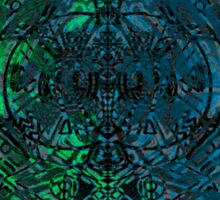 Green and Blue scatter symmetry  Sticker