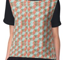 Diamond Pattern Chiffon Top