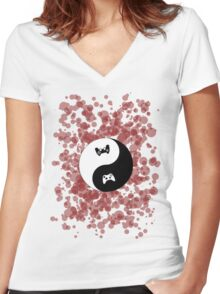 The Vitoa Strategy Untitled Logo Women's Fitted V-Neck T-Shirt