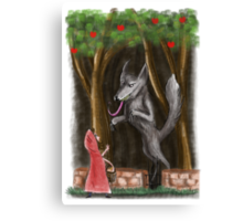 Litte Red and The Wolf Canvas Print