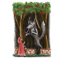 Litte Red and The Wolf Photographic Print