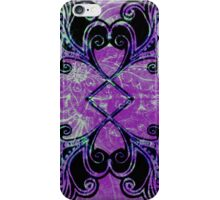 Blue ad Purple symmetry floral iPhone Case/Skin