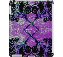 Blue ad Purple symmetry floral iPad Case/Skin