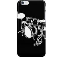 Drum Kit Rock Black White iPhone Case/Skin