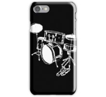 Drum Kit Rock Black White iPhone Case/Skin
