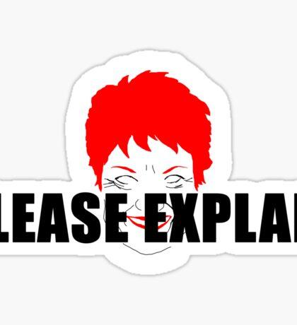 Pauline Pantsdown Sticker