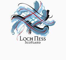 Loch Ness, Scotland - Prefer your gift on Black/White tell us at info@tangledtartan.com  Unisex T-Shirt
