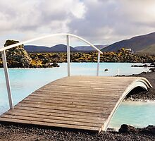 Blue Lagoon - famous Icelandic spa and Geothermal Power plant (panoramic picture) by Stanciuc