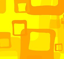 Colorful Squares - Orange Yellow  by sitnica