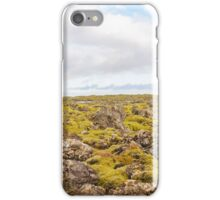 Blue Lagoon - famous Icelandic spa and Geothermal Power plant (panoramic picture) iPhone Case/Skin