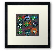 Ninja Squad Framed Print