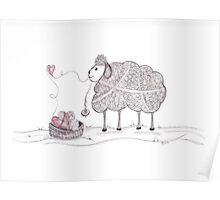Tangled Spinning Ewe Poster