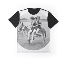 Girls On Donkey Graphic T-Shirt
