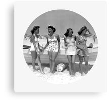Cool Vintage Girls Canvas Print