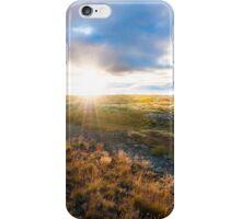 Amazing sunset in iceland iPhone Case/Skin