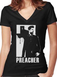 Preacher Women's Fitted V-Neck T-Shirt