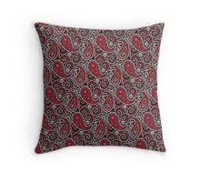 Pushie Paisley Pattern Chrome Throw Pillow