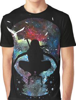 Grungy Ninja Silhouette Graphic T-Shirt