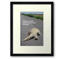Roadkill Reality Framed Print