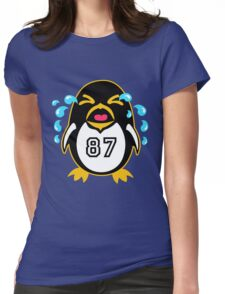 """Crosby Penguin  """"war""""Cry Womens Fitted T-Shirt"""