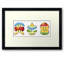 Mario Slot Machine Framed Print