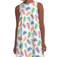 Colourful Matisse Leaves A-Line Dress