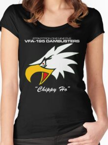 VFA-195 DAMBUSTERS UNITED STATES NAVY STRIKE FIGHTER SQUADRON T-SHIRTS Women's Fitted Scoop T-Shirt